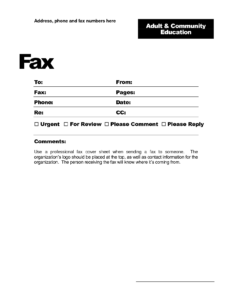 Fax Template Word 2010 – Free Download for Fax Template Word 2010