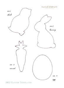 Felt Easter Patterns Free | Free+Printable+Easter+Template+ inside Easter Chick Card Template