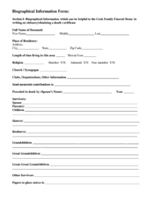 Fill In The Blank Obituary Template – Fill Online, Printable Pertaining To Fill In The Blank Obituary Template
