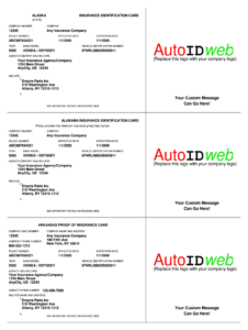 Fillable Online Download Auto Insurance Card Template within Car Insurance Card Template Download