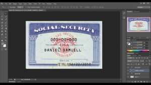 Fillable Social Security Card Template Blank Social – Nurul Amal for Social Security Card Template Photoshop