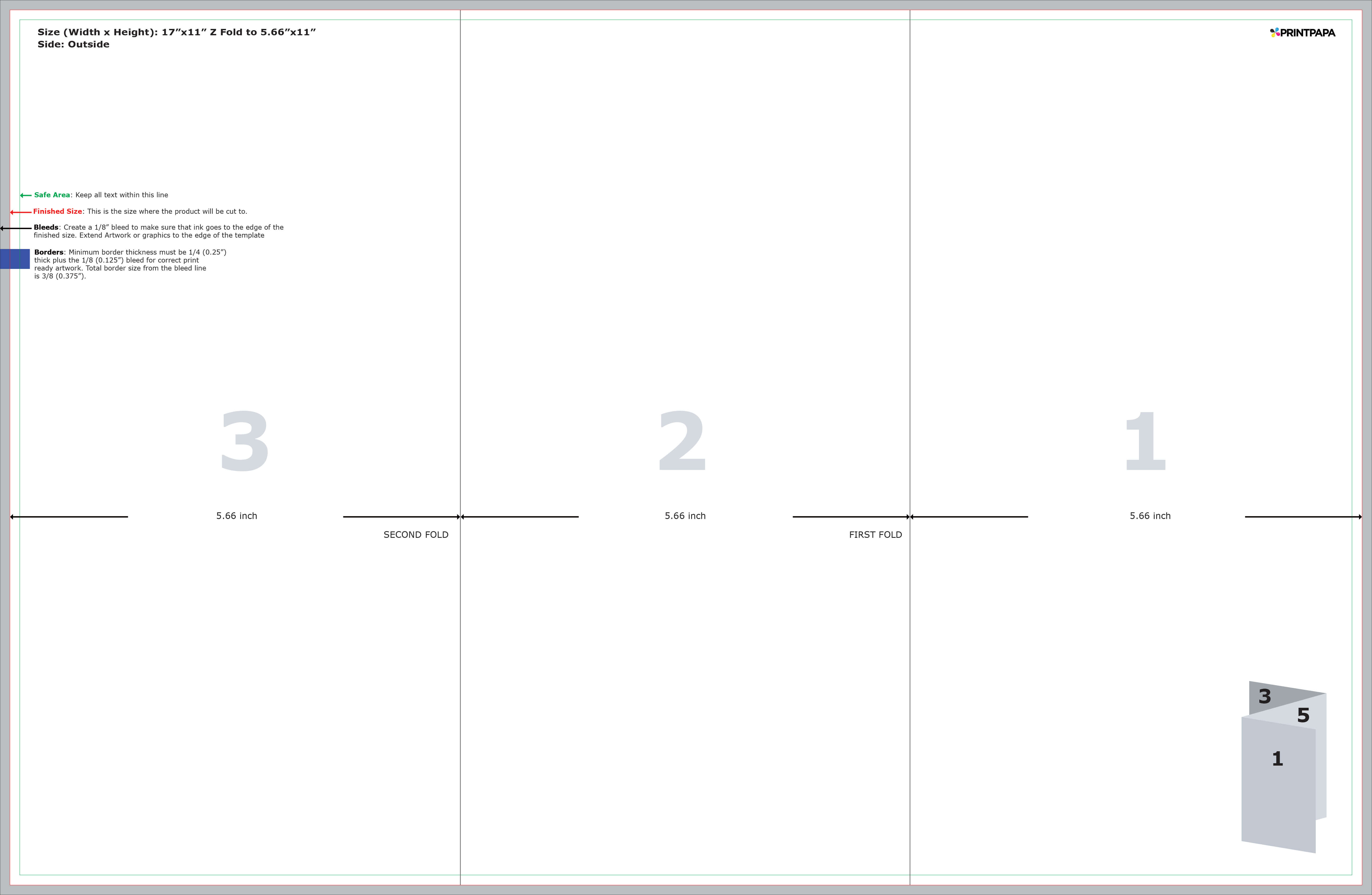 Find A Printing Template :: Printpapa With 8.5 X11 Brochure Template