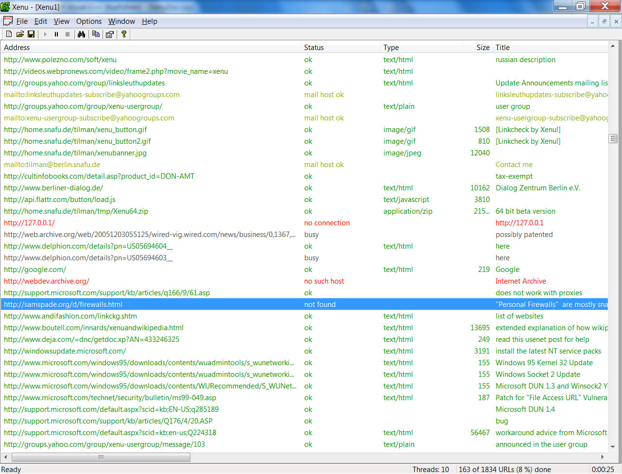 Find Broken Links On Your Site With Xenu's Link Sleuth (Tm) Throughout Html Report Template Free