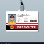 Firefighter Id Card Template Within Personal Identification Card Template