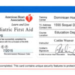 First Aid Certificate Template Free Certification Intended For Cpr Card Template