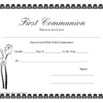 First Communion Banner Templates | Printable First Communion Within First Communion Banner Templates