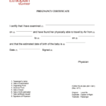 Fit To Fly Certificate Pregnancy Format - Fill Online inside Fit To Fly Certificate Template