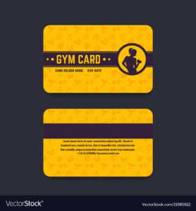 Fitness Club Gym Card Template with Gym Membership Card Template