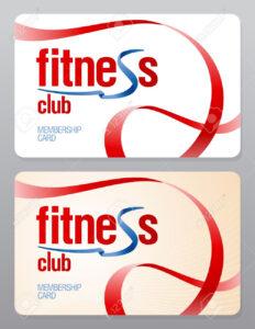 Fitness Club Membership Card Design Template. within Gym Membership Card Template