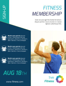 Fitness Membership Flyer Template in Membership Brochure Template