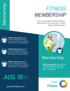 Fitness Membership Flyer Template throughout Membership Brochure Template