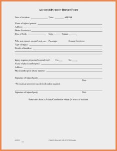 Five Thoughts You Have As General Incident | Invoice Template regarding Generic Incident Report Template