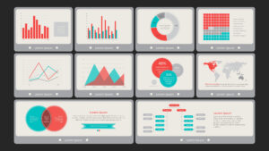 Flat Vintage Powerpoint Dashboard within Powerpoint Dashboard Template Free