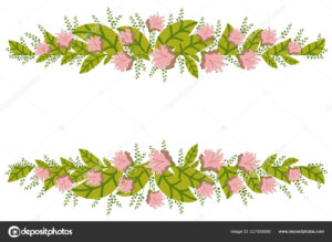 Floral Banner Isolated White Background Flower Composition intended for Save The Date Banner Template