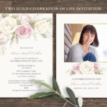 Floral Funeral Invitation Funeral Announcement Card Within Funeral Invitation Card Template