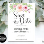 Floral Save The Date Card for Save The Date Cards Templates