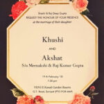 Floral Wedding Cards#2018 | Engagement In 2019 | Wedding Regarding Sample Wedding Invitation Cards Templates