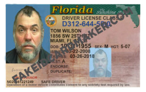 Florida Driver's License Fake Id Virtual Inside Florida Id Card Template