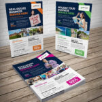 Flyer Design Bundle – 7 In One #sale#double#project#sided With One Sided Brochure Template