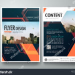 Flyers Design Template Vector. Abstract Blue Cover Book Regarding Engineering Brochure Templates