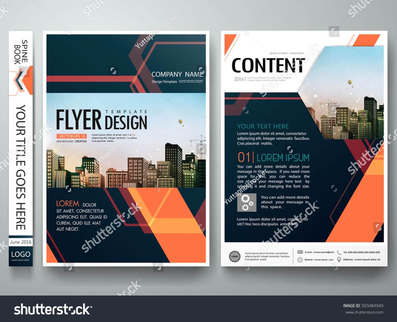 Flyers Design Template Vector. Abstract Blue Cover Book Regarding Engineering Brochure Templates