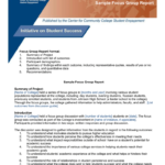 Focus Group Toolkit Sample Focus Group Report regarding Focus Group Discussion Report Template