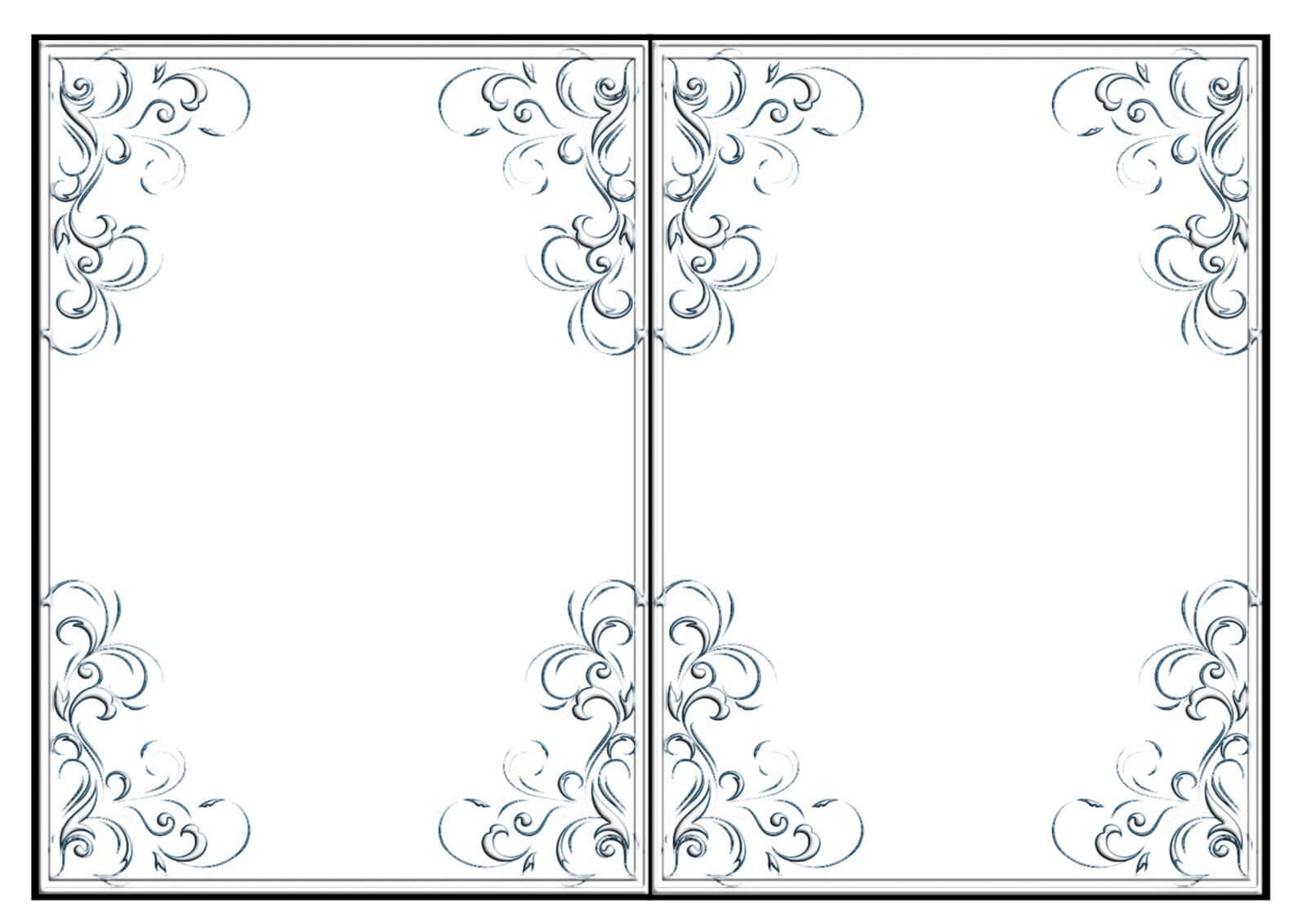Fold Card Template Imnettle.free Printable Quarter Fold Card Within Quarter Fold Card Template
