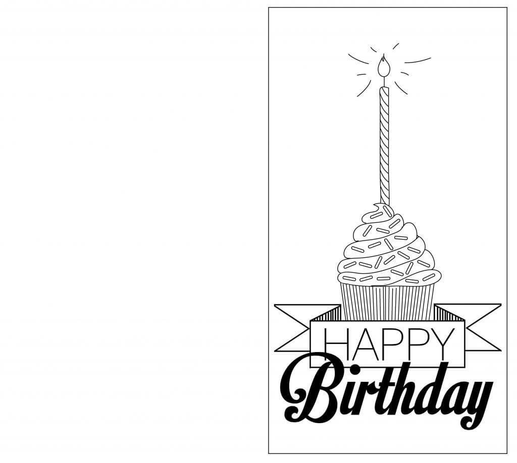 Foldable Birthday Card Template – Hizir.kaptanband.co Pertaining To Foldable Birthday Card Template