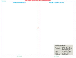 Folded Templates with Half Fold Card Template