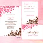 Foliage Borders Invitation, Rsvp And Thank You Cards Regarding Church Wedding Invitation Card Template