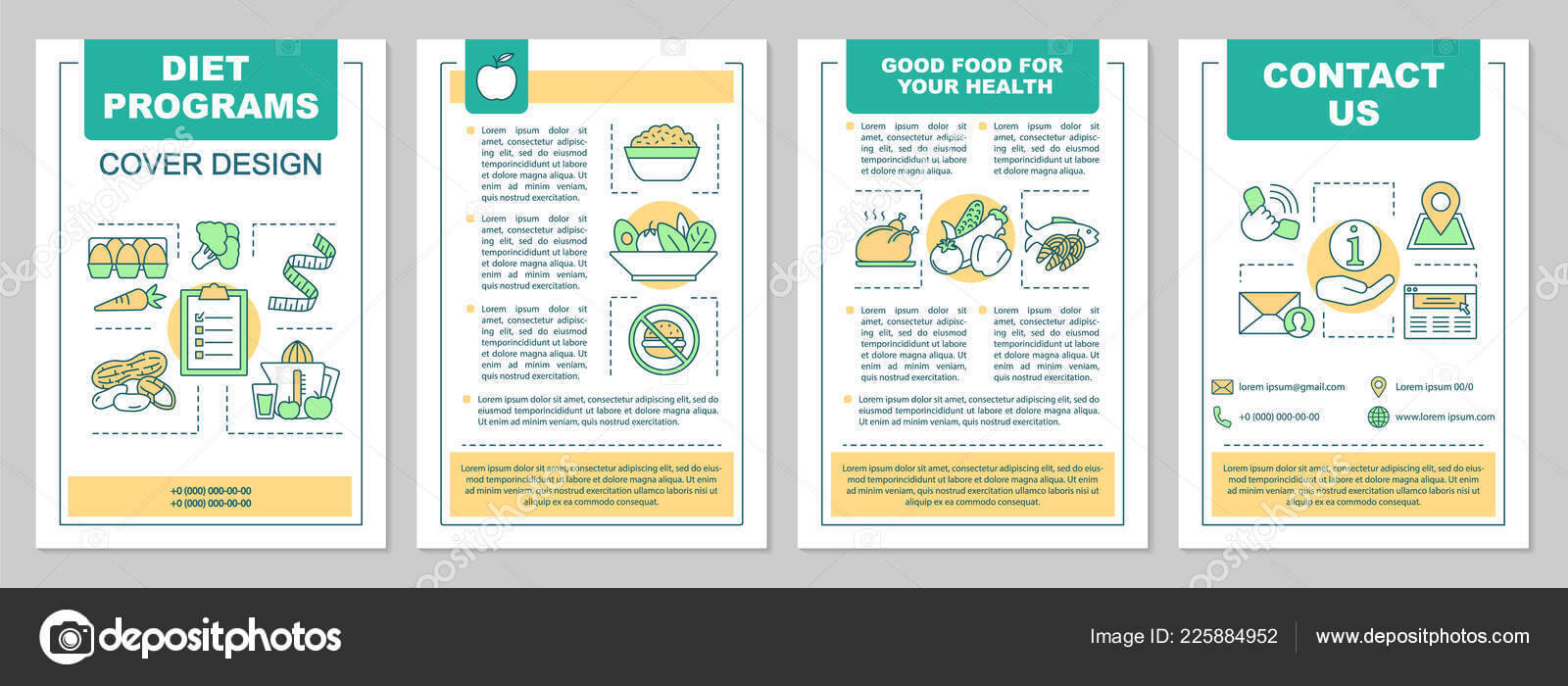 Food Magazine Layout Templates   Healthy Nutrition Brochure Throughout Nutrition Brochure Template