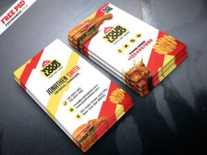 Food Restaurant Business Card Psdpsd Freebies On Dribbble within Restaurant Business Cards Templates Free