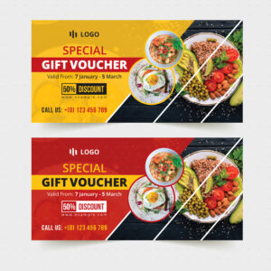 Food Restaurant Gift Voucher Template #restaurant, #food For Pizza Gift Certificate Template