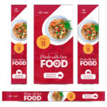 Food Web Banner Set #web, #food, #set, #banner | Creative within Food Banner Template