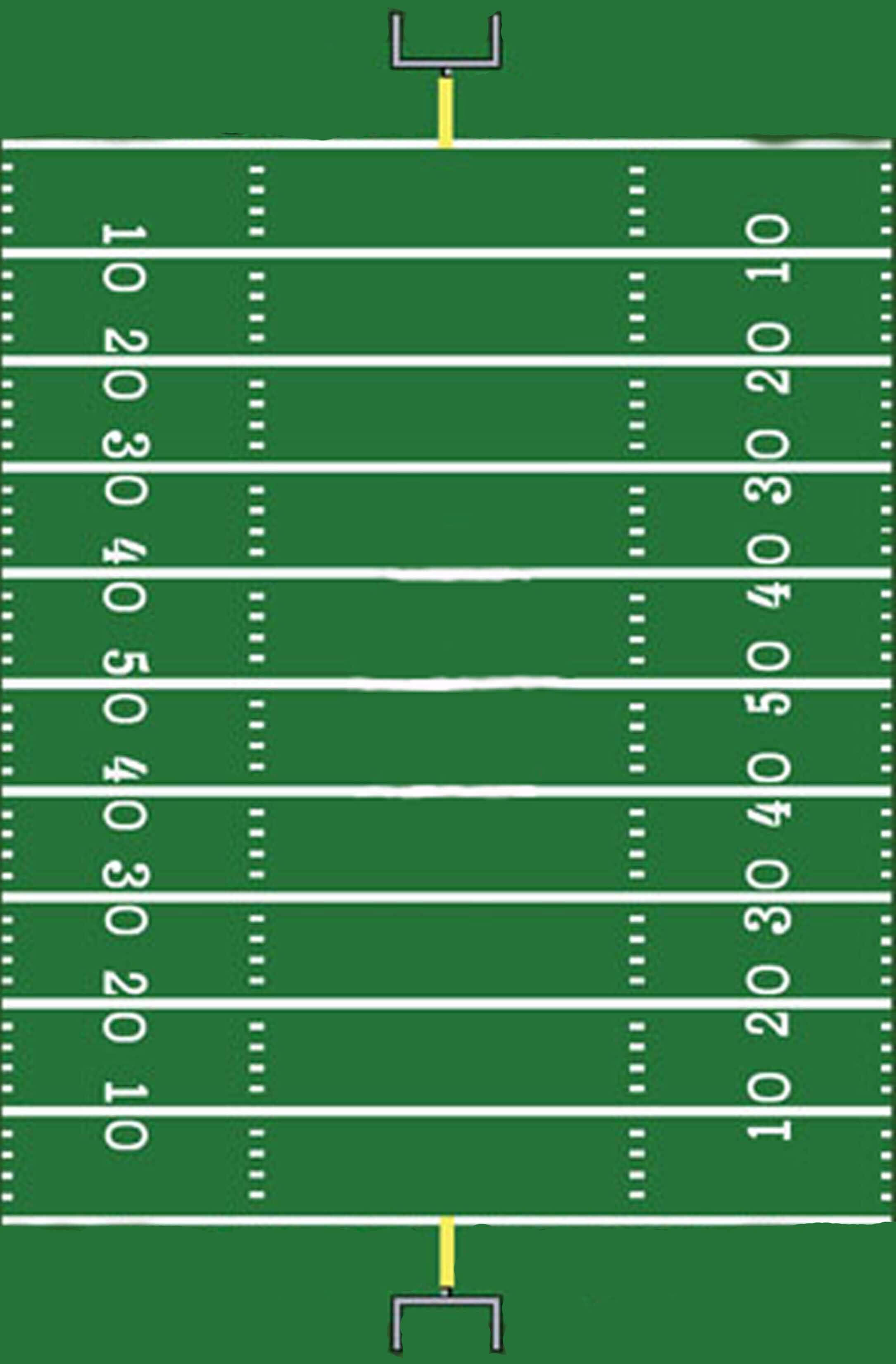 Football Field Template I Made For A Sign | Hunter's 1St With Blank Football Field Template