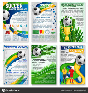 Football Or Soccer Game Banner, Sport Club Design — Stock within Football Referee Game Card Template