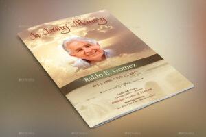Forever Funeral Program Template For Memorial Brochure Template