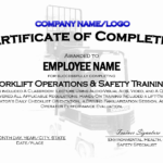 Forklift Certification Card Template | Template Modern Design Intended For Forklift Certification Card Template