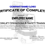 Forklift Training Card Template Certificationallet Free inside Forklift Certification Template