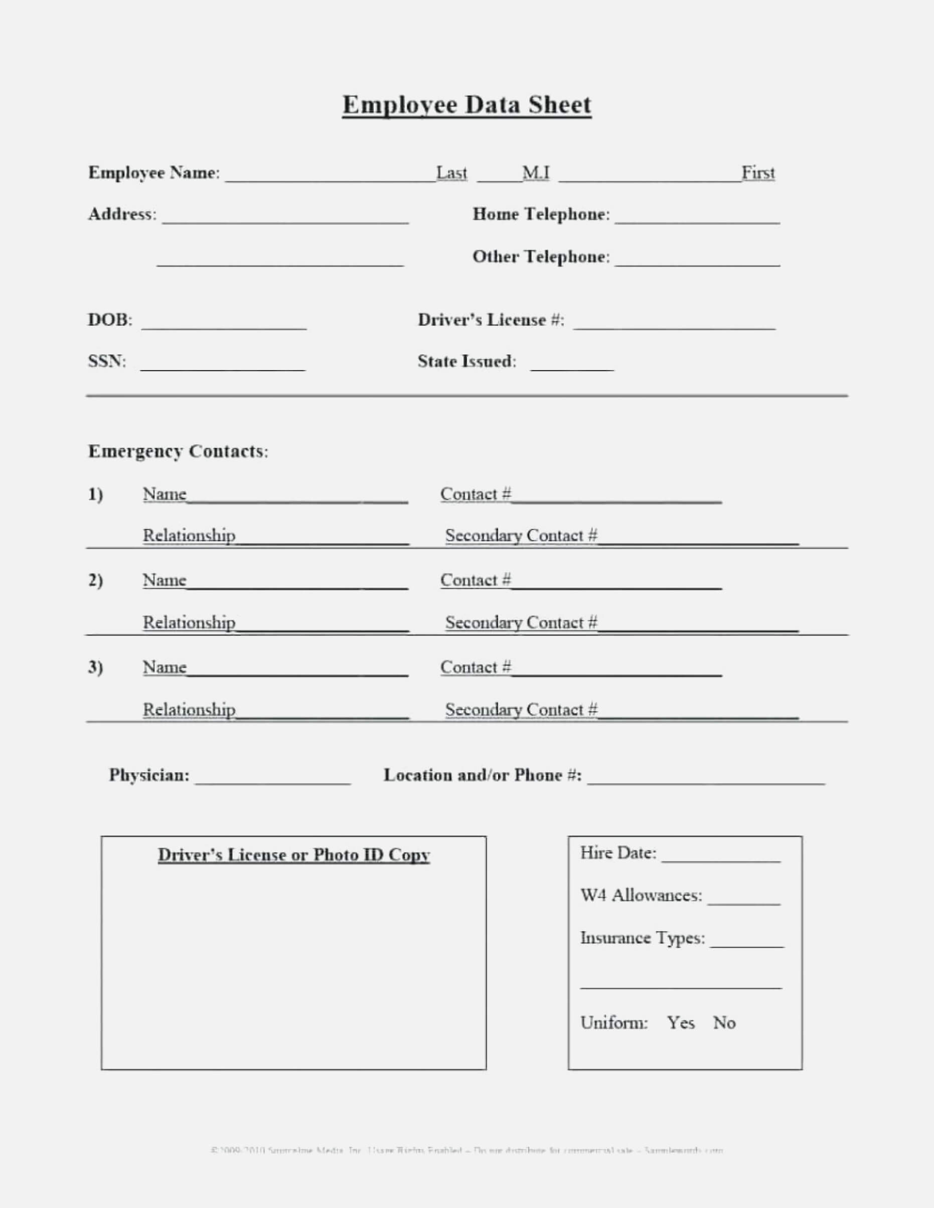 Form Templates Emergency Contact Student Information Card Pertaining To Student Information Card Template
