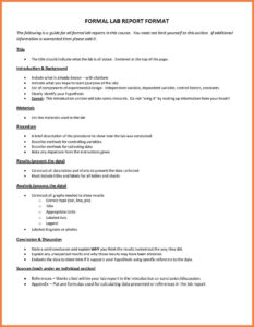 Formal Lab T Example Template Financialstatementform Science throughout Formal Lab Report Template