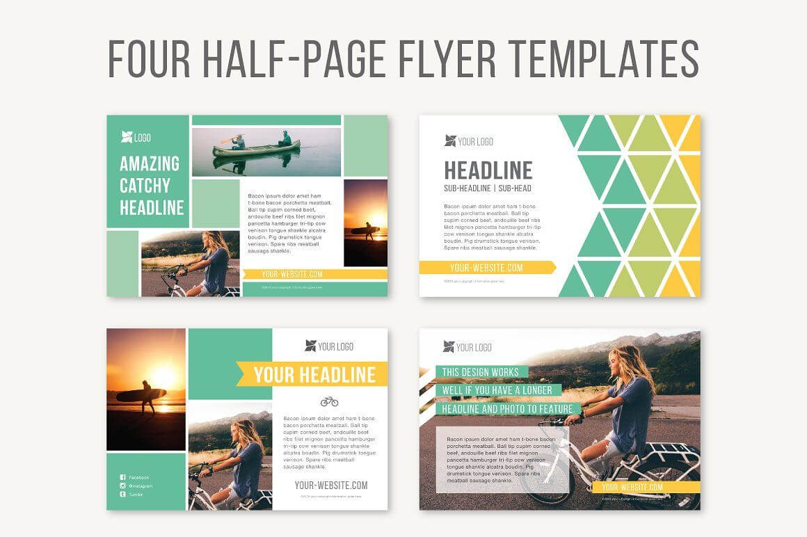 Four Half Page Flyer Templatesjoanna Haecker On With Regard To Half Page Brochure Template
