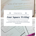 Four Square Writing | Ready Made Lessons | Four Square In Blank Four Square Writing Template
