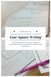 Four Square Writing   Ready Made Lessons   Four Square in Blank Four Square Writing Template