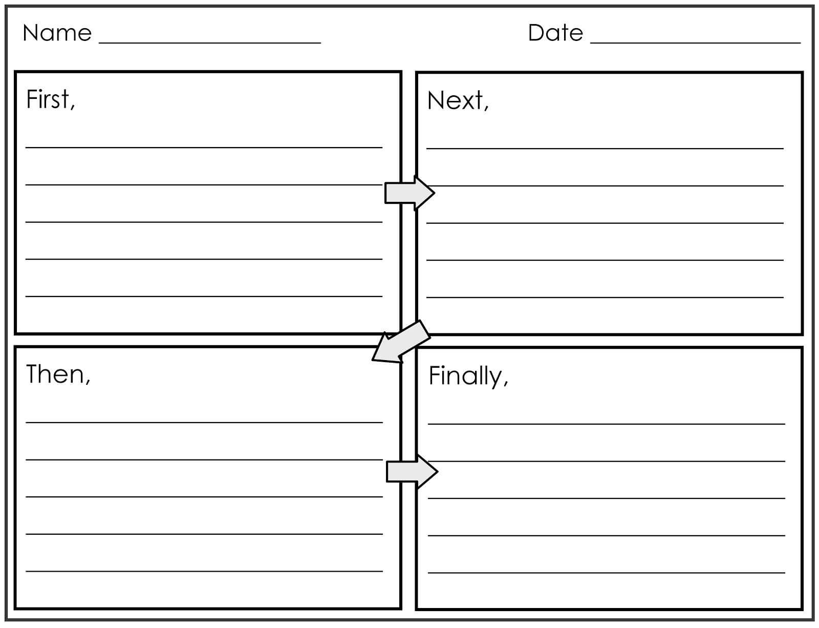 Four Square Writing Template Printable | 2Nd And 1St Grade Throughout Blank Four Square Writing Template