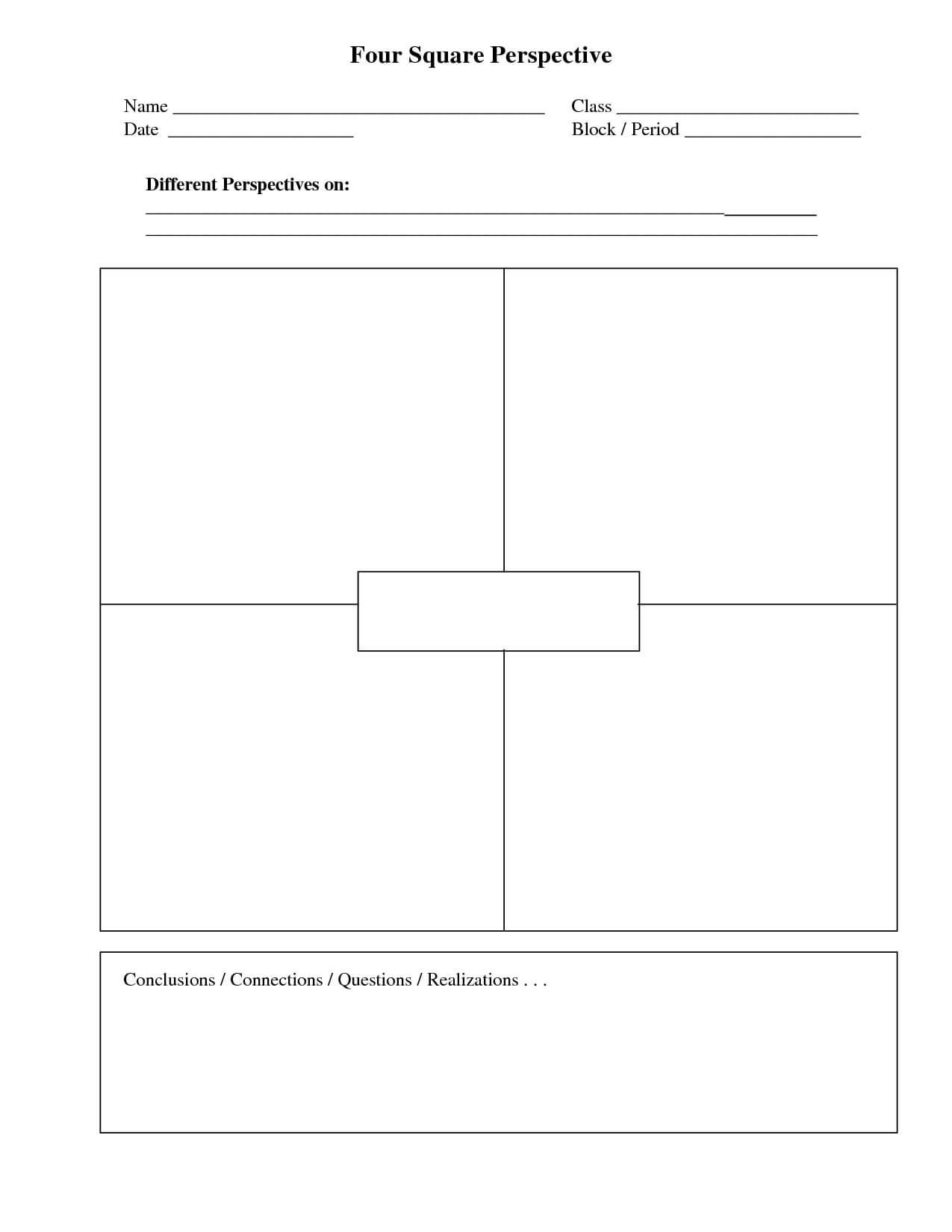 Four Square Writing Template Printable | Four Square Intended For Blank Four Square Writing Template