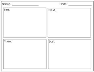 Four Square Writing Template Printable   Four Square Writing with Blank Four Square Writing Template