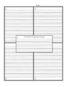 Four Square Writing Worksheet Square Template Printable throughout Blank Four Square Writing Template