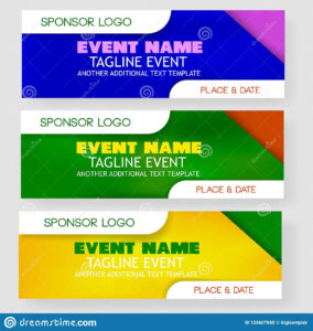 Four Style Blank Template Event Banner Or Backdrop With intended for Event Banner Template