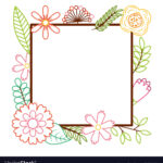 Frame From Wild Flowers Greeting Card Template Pertaining To Free Printable Blank Greeting Card Templates